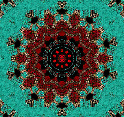 Mixed Media - Santa Fe Mandala by Natalie Holland
