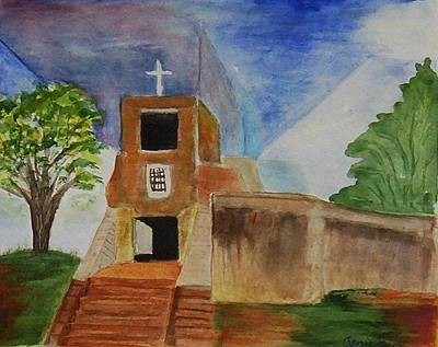 Catherdral Painting - Santa Fe Mission by Jamie Frier