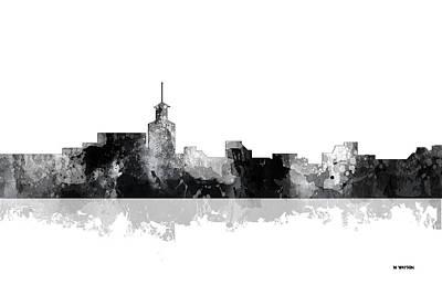Santa Fe Digital Art - Santa Fe New Mexico Skyline by Marlene Watson