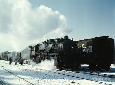 1943 Painting - Santa Fe Railroad At Corwith Yard by Celestial Images