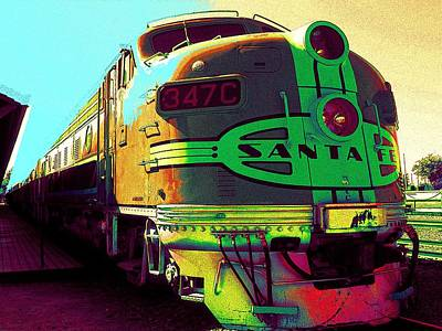Santa Fe Railroad New Mexico Art Print