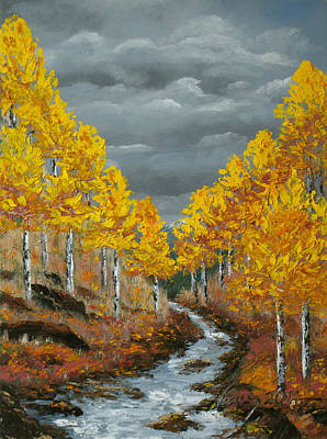 Painting - Santa Fe River Aspens by Carl Owen