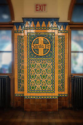 Photograph - Santa Fe Rr Logo San Diego Station_7r2_dsc3013_17-01-14  by Greg Kluempers