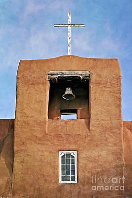Photograph - Santa Fe - San Miguel Mission Bell Tower by Gabriele Pomykaj