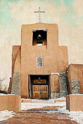 Photograph - Santa Fe - San Miguel Mission Entrance by Gabriele Pomykaj