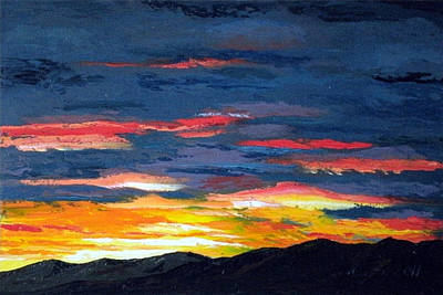 Painting - Santa Fe Southside Sunrise by Carl Owen