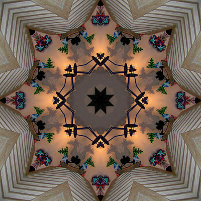 Digital Art - Santa Fe Stairway by Kathleen Stephens