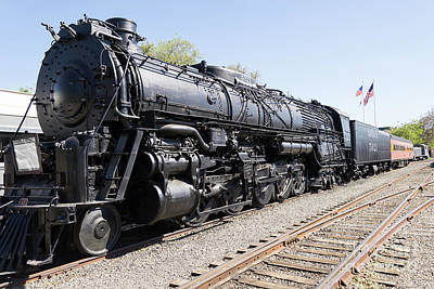 Photograph - Santa Fe Steam Locomotive Engine Number 5021 At Old Sacramento California Dsc4926 by Wingsdomain Art and Photography