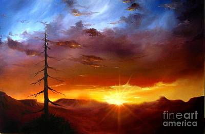 Painting - Santa Fe Sunset by Charice Cooper