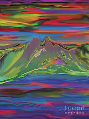 Digital Art - Santa Fe Sunset by Jacqueline Shuler