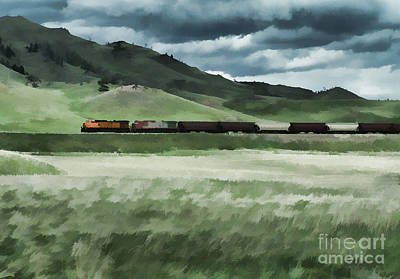 Photograph - Santa Fe Train by Erica Hanel