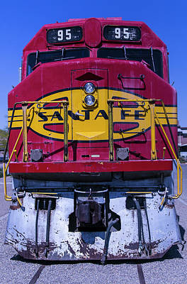 Depot Photograph - Santa Fe Train Head On by Garry Gay