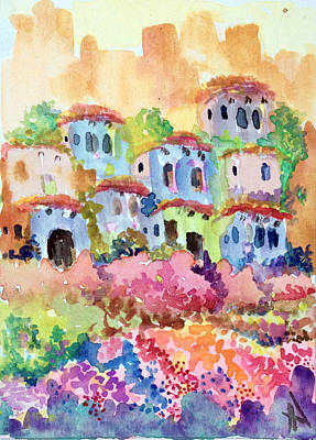 Painting - Santa Fe Village by Patricia Lazaro
