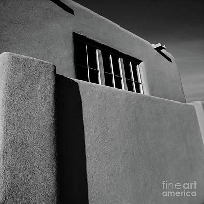 Photograph - Santa Fe Wall Bw by Tim Richards