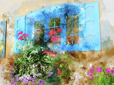 Santa Fe Window Art Print by Kevin O'Hare