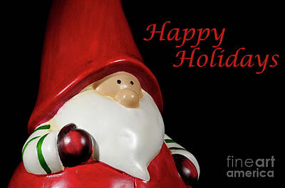 Photograph - Santa Fun 2 - Christmas Greetings Card by Wendy Wilton