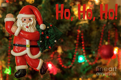 Photograph - Santa Fun 4 - Christmas Greetings Card by Wendy Wilton