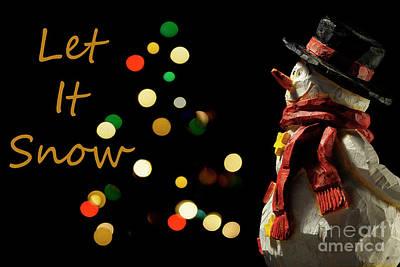 Photograph - Snowman 2 Fun - Christmas Greetings Card by Wendy Wilton