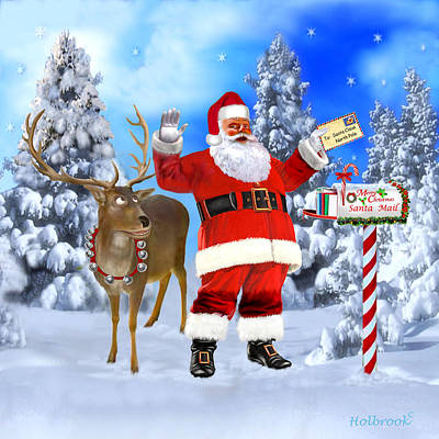 Santa Got Your Letter Art Print