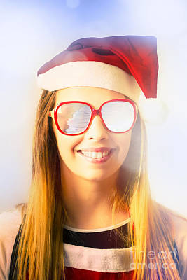 Photograph - Santa Hat Woman Celebrating Christmas In Australia by Jorgo Photography - Wall Art Gallery
