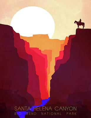 Santa Helena Canyon 1  Art Print