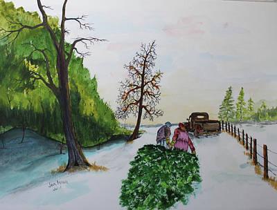 Painting - Santa Helper 4 by Jack G Brauer