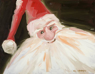 Santa Print by Hil Hawken