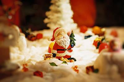 Santa In Town Original by Sun Wu