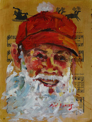 Painting - Santa Is A Dairy Farmer by Carol Berning