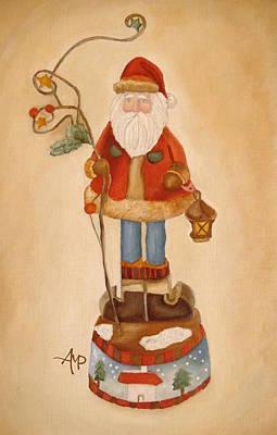 Navidad Painting - Santa Is Coming by Angeles M Pomata