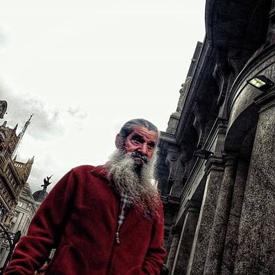 Portrait Photograph - Santa Is Coming To Town 🎶 #santa by Rafa Rivas