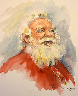 Santa Is That You Art Print by P Maure Bausch