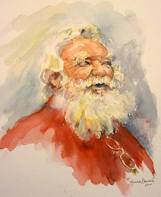 Santa Is That You Print by P Maure Bausch