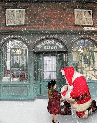 Digital Art - Santa by Jim Hatch
