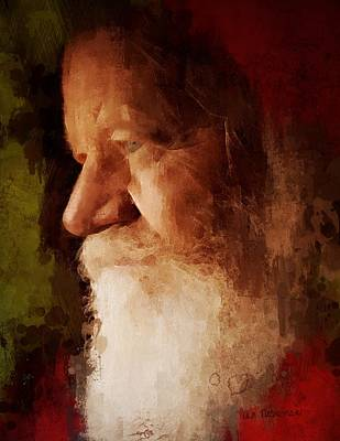 Santa Art Print by Lisa Noneman