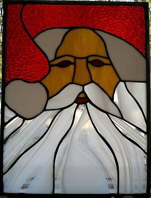 Glass Art - Santa by Liz Lowder