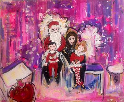 Painting - Santa Makes Memories  by Judith Desrosiers
