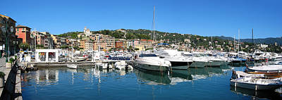 Photograph - Santa Margherita Ligure Panoramic by Adam Romanowicz