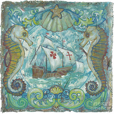 Encaustic Painting - Santa Maria by Danielle Perry