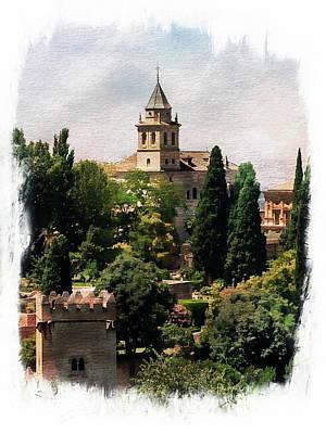 Digital Art - Santa Maria De La Alhambra by Anthony Dezenzio