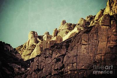 Barcelona Digital Art - Santa Maria De Montserrat  by Mary Machare
