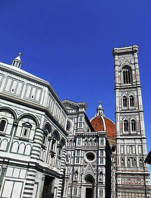 Digital Art - Santa Maria Del Fiori Florence Italy by Irina Sztukowski