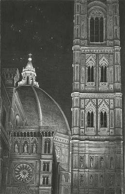 Drawing - Santa Maria Del Fiori by Norman Bean