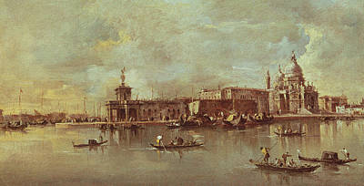 Oarsman Painting - Santa Maria Della Salute Seen From The Mouth Of The Grand Canal by Francesco Guardi
