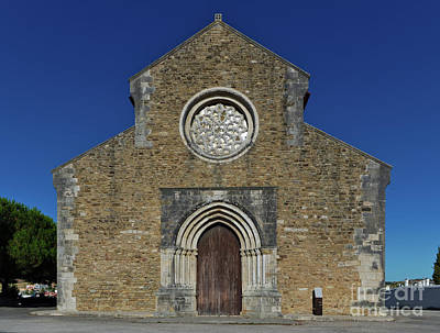 Photograph - Santa Maria Do Carmo Church Facade In Lourinha. Portugal by Angelo DeVal