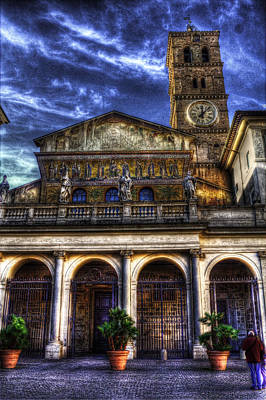 Santa Maria In Trastevere Art Print by Brian Thomson