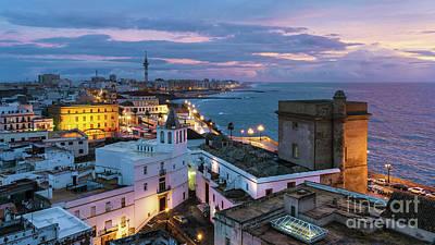 Photograph - Santa Maria Del Mar From East Tower Cadiz Spain by Pablo Avanzini