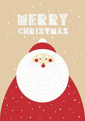 Digital Art - Santa Merry Christmas 2 by Christopher Meade