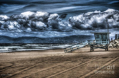 Abstract Graphics - Santa Monica Beach Dramatic by Julian Starks