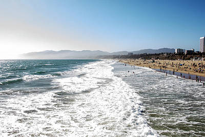 Photograph - Santa Monica Beach by Jean Haynes